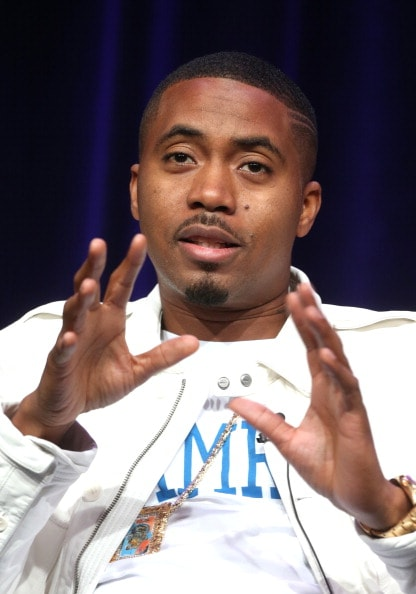 Nas speaks onstage at the 'Finding Your Roots 2 ' panel during the PBS Networks portion of the 2014 Summer Television Critics Association at The Beverly Hilton Hotel on July 23, 2014 in Beverly Hills, California.