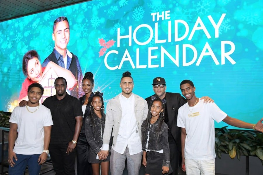 "LOS ANGELES, CALIFORNIA - OCTOBER 30: (l-R) Justin Dior Combs, Sean ""Diddy"" Combs, Kim Porter, D'Lila Star Combs, Jessie James Combs, Quincy Brown, Al B. Sure! and  Christian Casey Combs attend ""The Holiday Calendar"" Special Screening Los Angeles at NETFLIX Icon Building on October 30, 2018 in Los Angeles, California. (Photo by Charley Gallay/Getty Images for Netflix)"