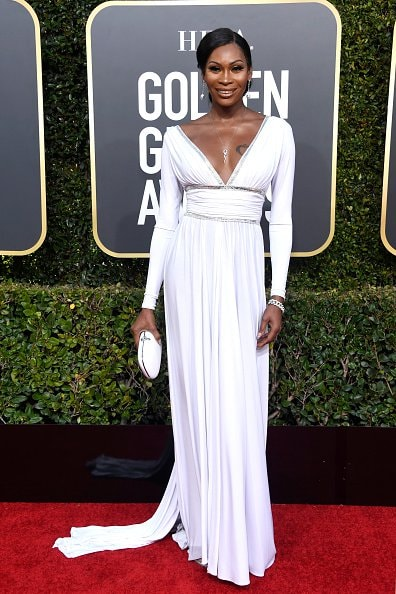 BEVERLY HILLS, CA - JANUARY 06:  Dominique Jackson attends the 76th Annual Golden Globe Awards at The Beverly Hilton Hotel on January 6, 2019 in Beverly Hills, California.  (Photo by Frazer Harrison/Getty Images)