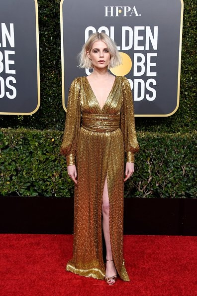 BEVERLY HILLS, CA - JANUARY 06:  Lucy Boynton attends the 76th Annual Golden Globe Awards at The Beverly Hilton Hotel on January 6, 2019 in Beverly Hills, California.  (Photo by Frazer Harrison/Getty Images)