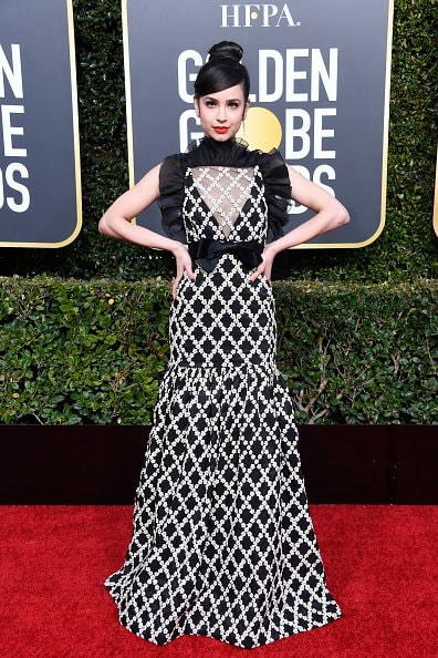 BEVERLY HILLS, CA - JANUARY 06:  Sofia Carson attends the 76th Annual Golden Globe Awards at The Beverly Hilton Hotel on January 6, 2019 in Beverly Hills, California.  (Photo by Frazer Harrison/Getty Images)