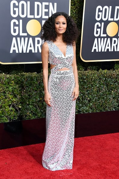 BEVERLY HILLS, CA - JANUARY 06: Thandie Newton attends the 76th Annual Golden Globe Awards at The Beverly Hilton Hotel on January 6, 2019 in Beverly Hills, California.  (Photo by Jon Kopaloff/Getty Images)