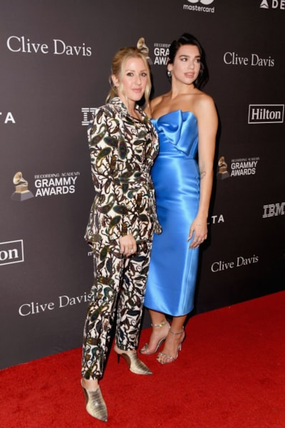 BEVERLY HILLS, CA - FEBRUARY 09:  Ellie Goulding (L) and Dua Lipa attend The Recording Academy And Clive Davis' 2019 Pre-GRAMMY Gala at The Beverly Hilton Hotel on February 9, 2019 in Beverly Hills, California.  (Photo by Jon Kopaloff/Getty Images)