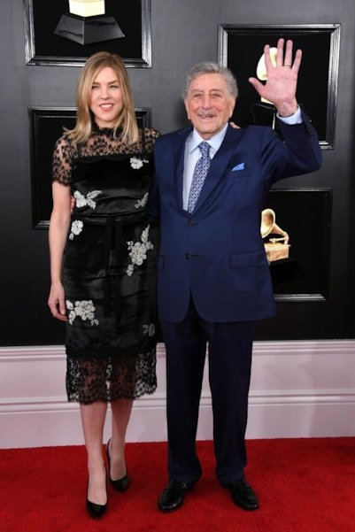 LOS ANGELES, CALIFORNIA - FEBRUARY 10: Diana Krall and Tony Bennett attend the 61st Annual GRAMMY Awards at Staples Center on February 10, 2019 in Los Angeles, California. (Photo by Jon Kopaloff/Getty Images)