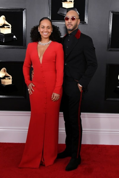 LOS ANGELES, CALIFORNIA - FEBRUARY 10: Alicia Keys and Swizz Beatz attend the 61st Annual GRAMMY Awards at Staples Center on February 10, 2019 in Los Angeles, California. (Photo by Jon Kopaloff/Getty Images)