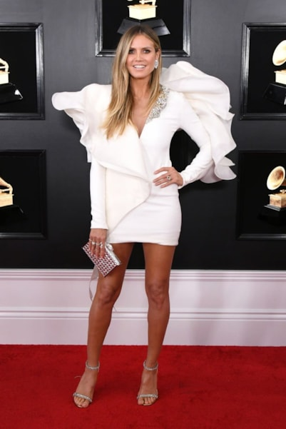 LOS ANGELES, CALIFORNIA - FEBRUARY 10: Heidi Klum attends the 61st Annual GRAMMY Awards at Staples Center on February 10, 2019 in Los Angeles, California. (Photo by Jon Kopaloff/Getty Images)